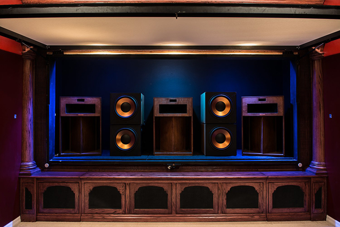Here's a great example of following best practices in home theater. Identical L/C/R channels, on-axis, behind the best-in-class Center Stage XD screen.